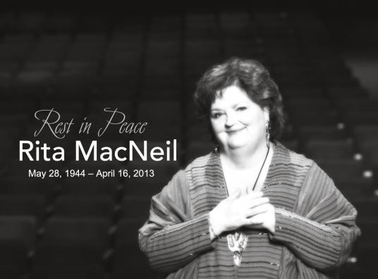 Rita MacNeil dead copy